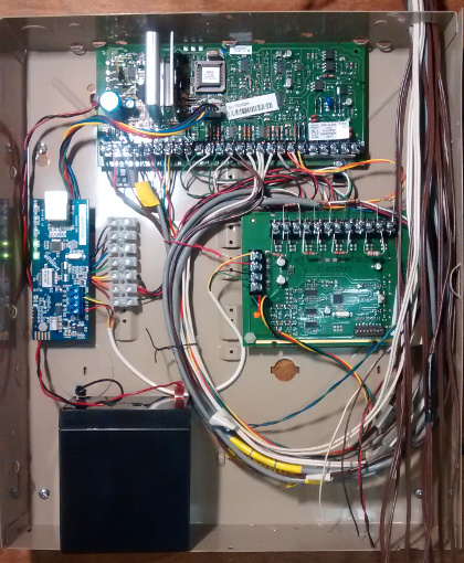 Physical Installation Of Envisalink 4 Onto Vista 20p Panel